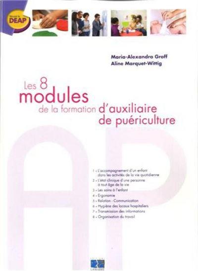 Les 8 modules de la formation d'auxiliaire depuericulture