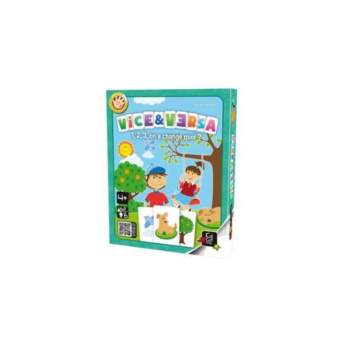 Découvrez le jeu Vice & Versa de Gigamic, un jeu d´observation facile et adapté aux petits à partir de 4 ans. Un petit jeu malin avec une diversité des images qui permet de travailler le vocabulaire. Sur chaque carte deux dessins pratiquement identiques s