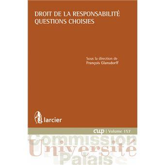 Droit de la responsabilité. Questions choisies