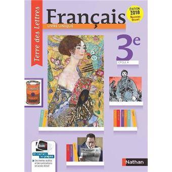 Terre Des Lettres Francais 3e Manuel Eleve 2017