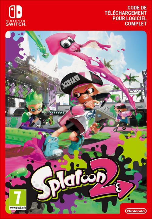 Code de téléchargement Splatoon 2 Nintendo Switch