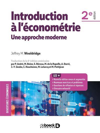 Introduction à l'économétrie - Une approche moderne - 9782807324541 - 52,99 €