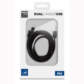 Câble de recharge BigBen pour 2 manettes PS4