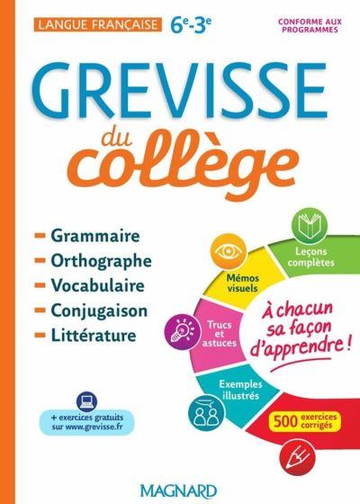 GREVISSE DU COLLÈGE - 9782210762145 - 7,99 €
