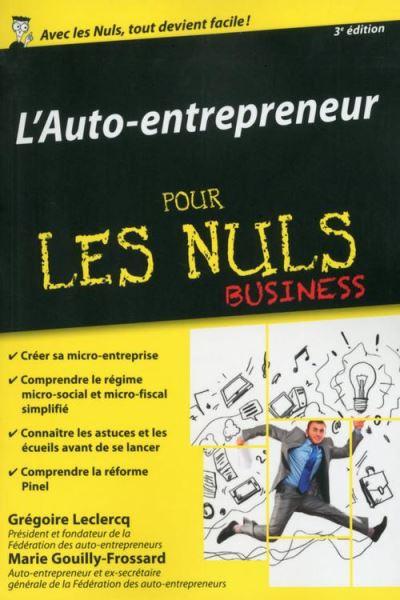 Auto-entrepreneur pour les Nuls, édition poche, 3ème édition - 9782754084239 - 8,99 €