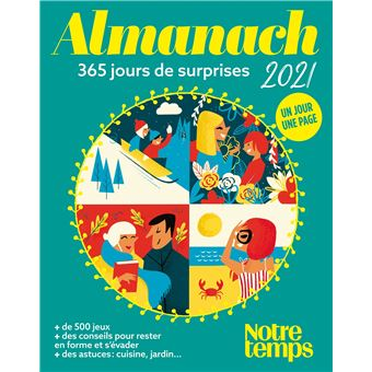 Notre Temps Calendrier Lunaire 2021 Almanach Notre Temps 2021   broché   Collectif   Achat Livre | fnac