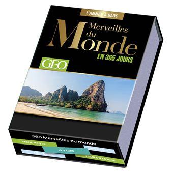 Calendrier Geo Merveilles Du Monde En 365 Jours L Annee A Bloc Cartonne Collectif Achat Livre Fnac