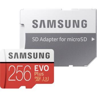 Samsung MicroSDXC - 256GB 100MBS CL10 - Adapter EVO +