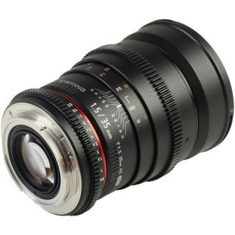 Samyang 35mm T1.5 VDSLR CANON SLR-lens (VOOR VIDEO)