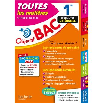Objectif Bac 1re Enseignements Communs Specialites Lettres Langues Histoire Geo Bac 2020