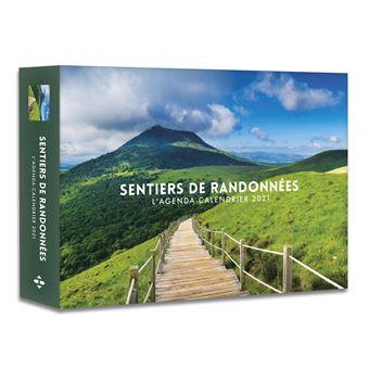 L'Agenda calendrier Sentiers de randonnées 2021   relié