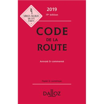 Code De La Route 2019 Annote Commente