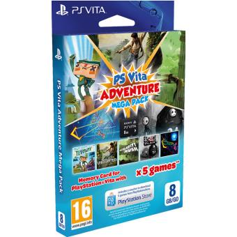 sony adventure games mega pack ps vita carte m moire 8 go accessoire console de jeux achat. Black Bedroom Furniture Sets. Home Design Ideas