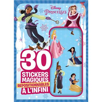 Disney PrincessesMes 30 stickers magiques repositionnables Spécial Hiver