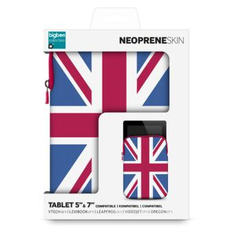 Etui de protection drapeau UK souple pour tablette 7''