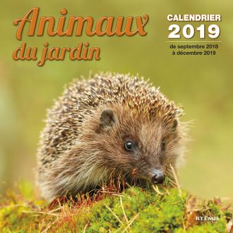 Calendrier Animaux.Calendrier 2019 Animaux Du Jardin