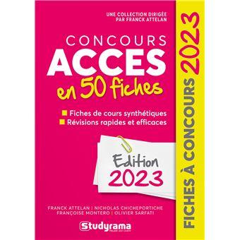 Concours accès en 40 fiches