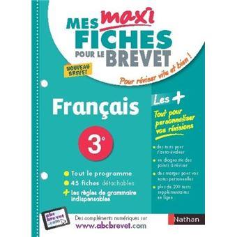 Mes Maxi Fiches Abc Brevet Francais 3eme