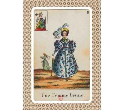 Carnet Blanc, Cartomancie, Femme brune, 18e siècle