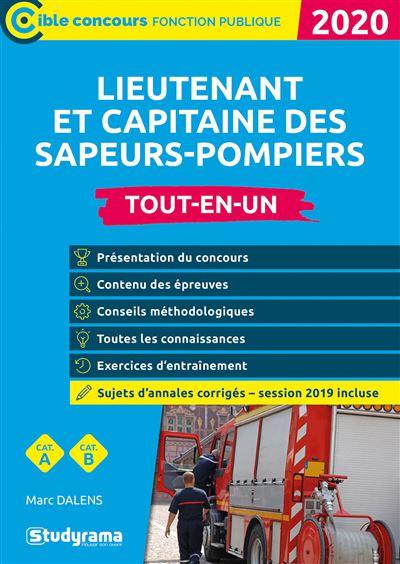 Lieutenant et capitaine des sapeurs-pompiers professionnels 2020