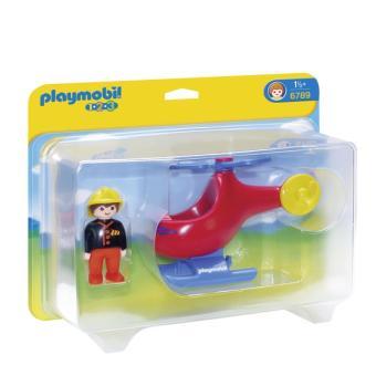 Playmobil 1.2.3 6789 Pompier avec hélicoptère