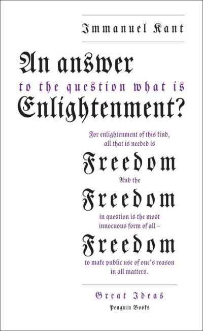An Answer to the Question: 'What is Enlightenment?' - 9780141957739 - 4,99 €