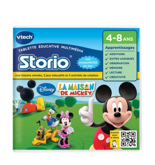 Jeux Storio Vtech La Maison de Mickey