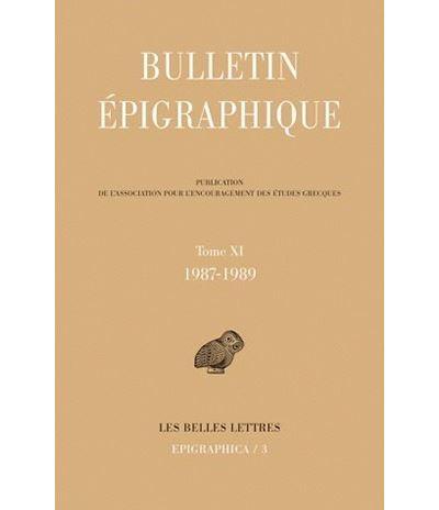 Bulletin épigraphique 1987-1989