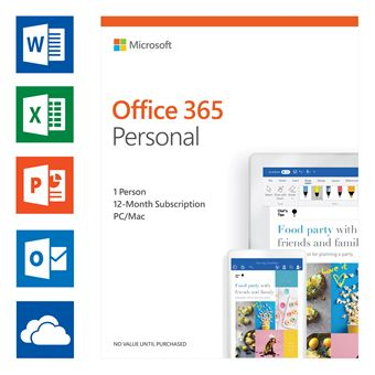 Microsoft Office 365 Personal UK (1 user) Software