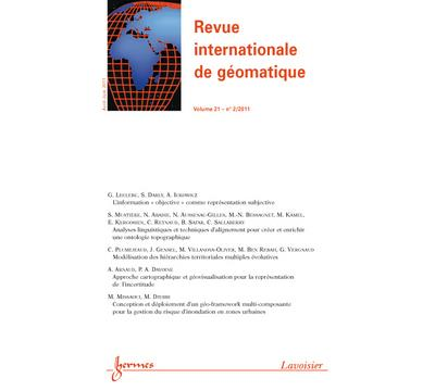 Revue internationale de geomatique volume 21 n  2 avriljuin