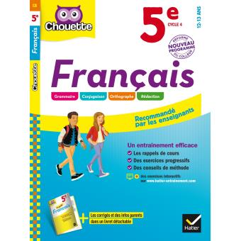 Francais 5eme Cycle 4 Workbook