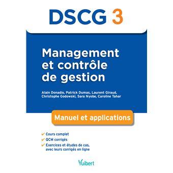 DSCG 3 Management et contrôle de gestion Manuel et applications - broché - Alain Donadio - Achat ...
