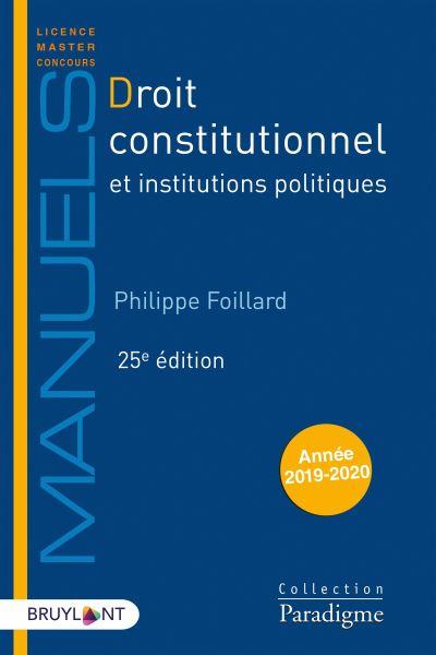Droit constitutionnel - Et institutions politiques