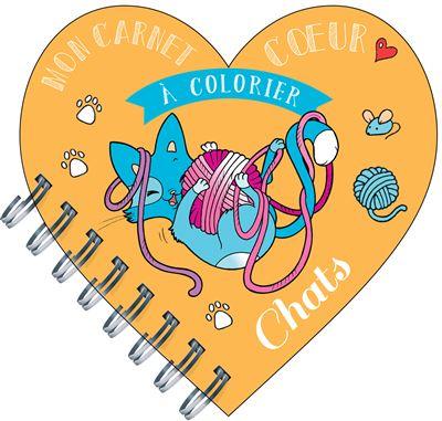 Mon carnet coeur à colorier chats