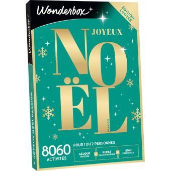 Coffret cadeau Wonderbox Joyeux Noël Sensation Passion   Coffret