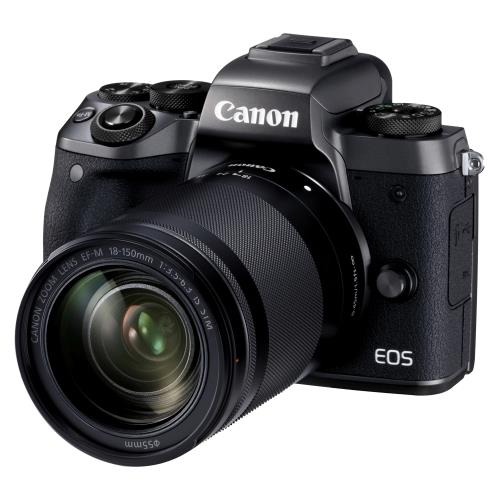 Canon EOS M5 Hybride Camera Zwart + Lens EF-M 18-150mm