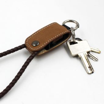 Verybadcoque Keyring USB Cable Brown