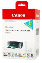 CNON Pack de 8 cartouches Canon Multipack CLI-42 pour Impriman...