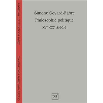 Philosophie politique (XVIe-XXe siècle)