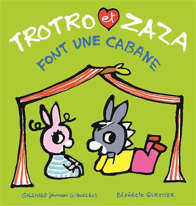 Trotro et Zaza font une cabane