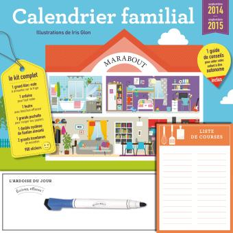 calendrier familial septembre 2014 septembre t2015 broch collectif achat livre fnac. Black Bedroom Furniture Sets. Home Design Ideas