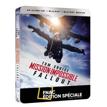 Mission : Impossible  Les FilmsMission : Impossible Fallout Steelbook Edition Spéciale Fnac Blu-ray 4K Ultra HD