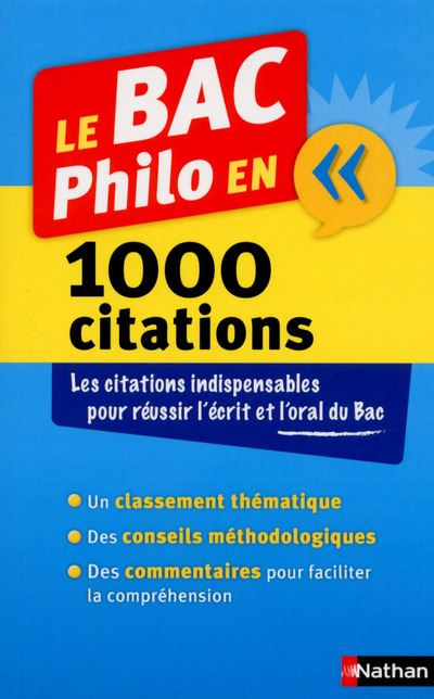 Le BAC Philo en 1000 citations