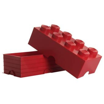 sélection premium 7bbcd d96c7 Brique de rangement rouge 8 plots Lego Sablon