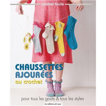 Chaussettes ajourees au crochet