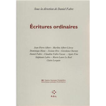 Écritures ordinaires