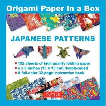 Origami paper in a box japanese patterns