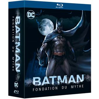 Batman animated seriesCoffret Batman Fondation du Mythe 4 films Blu-ray