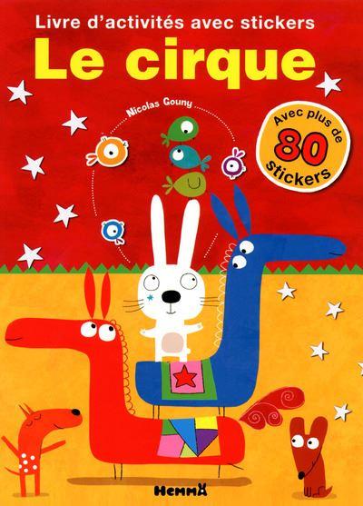 Mon livre d'activités avec stickers le cirque