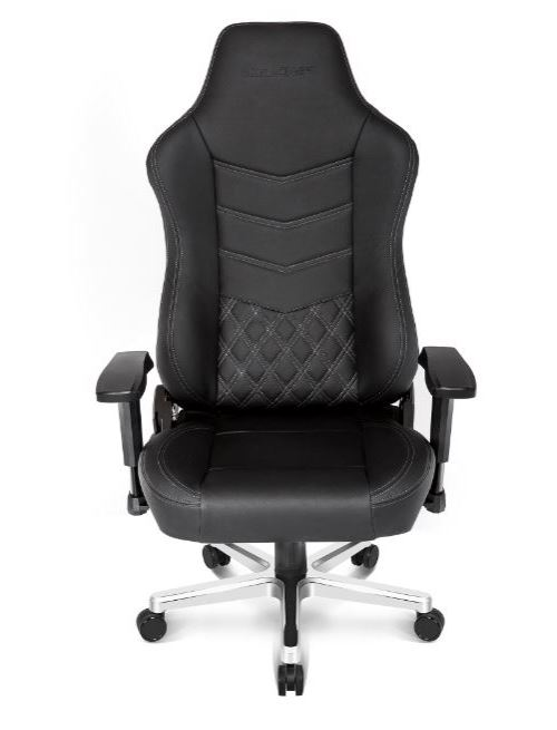 AKRACING ONYX FULL LEATHER GAMING CHAIR - BLAC